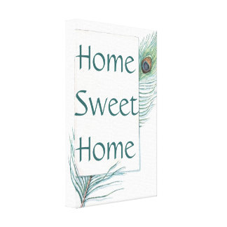 Impressão Home doce das canvas da casa retro do