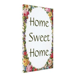 Impressão Home doce Home floral das canvas do