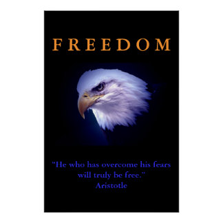 Impressão inspirador do poster de Eagle da coragem