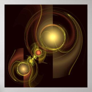 Impressão íntimo da arte abstracta da conexão
