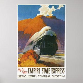 Impressão locomotivo expresso do estado do império