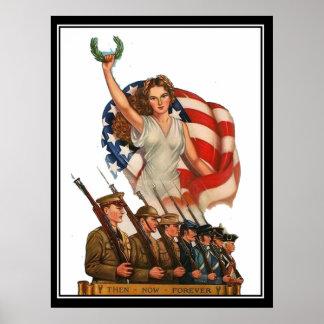 Impressão militar do poster vintage