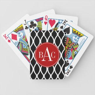 Impressão Monogrammed preto de Barcelona Baralho Para Pôquer
