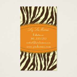 Impressão na moda da zebra, marrom escuro cartão de visitas