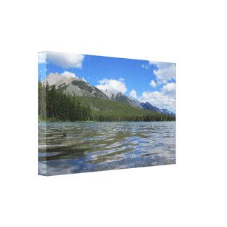 Impressão natural das canvas da paisagem