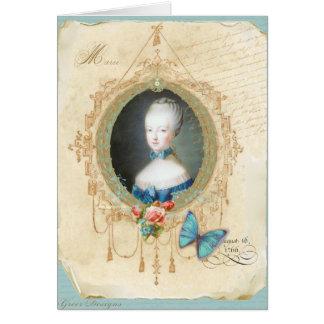 Impressão novo da arte da borboleta de Marie Cartão Comemorativo