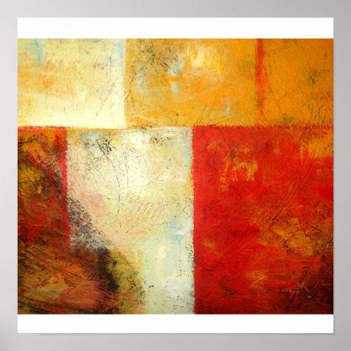 Impressão original da arte abstracta - trabalhos d