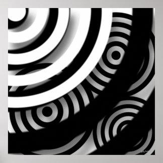Impressão ou poster da arte abstracta do peekaboo