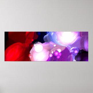 Impressão panorâmico do poster da arte abstrata mo