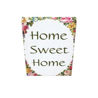 Impressão pequeno Home doce Home floral das canvas