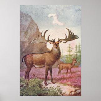 Impressão pré-histórico da antiguidade dos animais