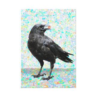 Impressão preto da arte das canvas do corvo impressão em tela