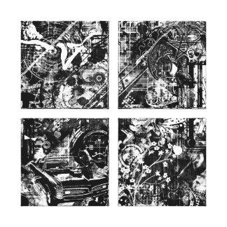 impressão preto e branco das canvas dos grafites impressão de canvas envolvida