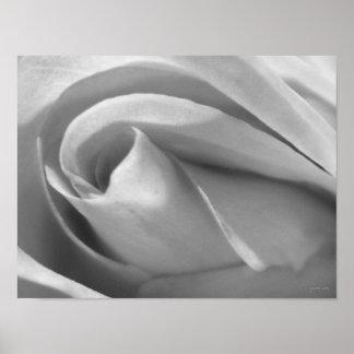 Impressão preto e branco do poster do rosa