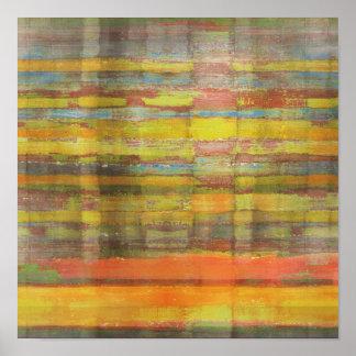 Impressão quadrado do poster da arte abstracta
