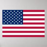 Impressão quadro com a bandeira dos EUA