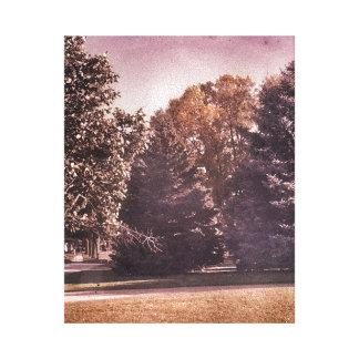 Impressão roxo desvanecido das canvas da floresta impressão em tela