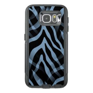Impressão Snazzy das listras da zebra dos azul-céu