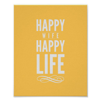 Impressão tipográfico das citações da esposa feliz