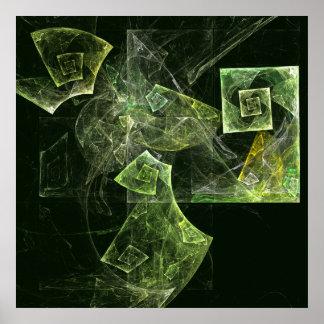 Impressão torcido da arte abstracta do equilíbrio