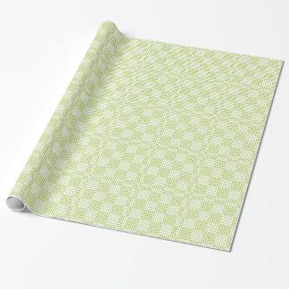 Impressão verde e branco da luz - do japonês papel de presente