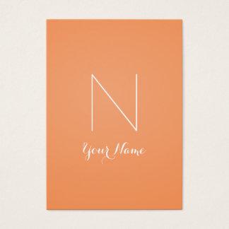 Impressionante da tangerina e Monogrammed Cartão De Visitas