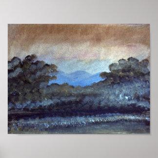 Impressionismo da paisagem poster