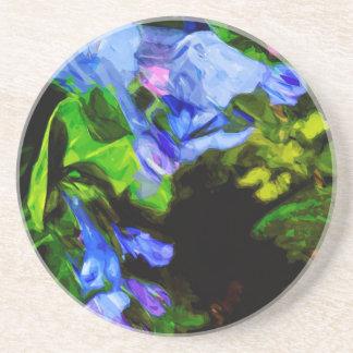 Impressionista do Wildflower do Bluebell de Porta Copos De Arenito