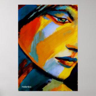 Impressões das belas artes - pinturas coloridas vi impressão