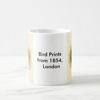 Impressões do pássaro caneca de café