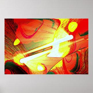 Impressões originais dos posters da arte abstracta