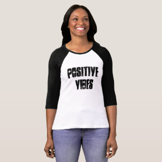 Impressões positivas t-shirt