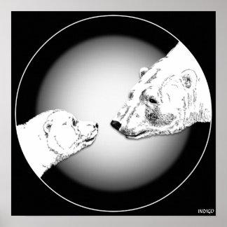 Impressões & presentes da arte do urso polar & do  poster