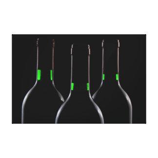 Impressões pretos das canvas das garrafas de vinho impressão em tela