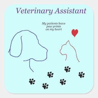 Impressões veterinários da Assistente-Pata em meu Adesivo Quadrado