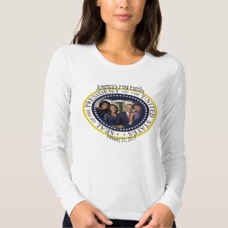 Inauguração 2013 presidencial do PRESIDENTE OBAMA T-shirts