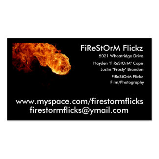 Incêndio Flickz Cartão De Visita