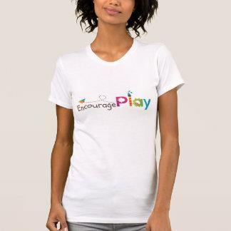 Incentive a camisa do jogo T para mulheres