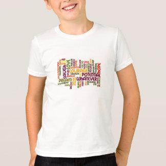 Incentivo de inspiração inspirador das palavras #1 t-shirts