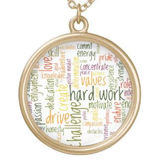 Incentivo inspirador do positivo das palavras #2 colar com pendente redondo
