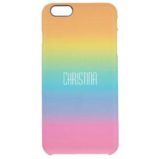 Inclinação da máscara do arco-íris capa para iPhone 6 plus clear