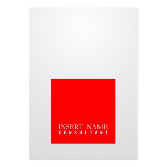 Inclinação moderno elegante profissional do cartão de visita grande