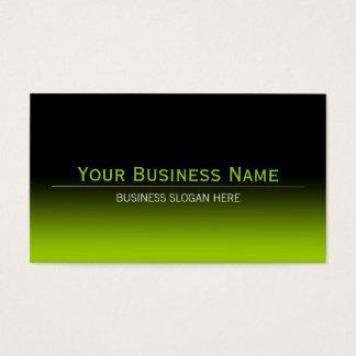 Inclinação moderno liso simples do preto & do cartão de visita