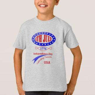 Independência gráfico americano da celebração do 4 camisetas
