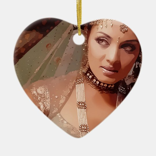 Indian bride ornamento de cerâmica