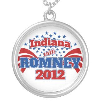 Indiana com Romney 2012 Colar Banhado A Prata
