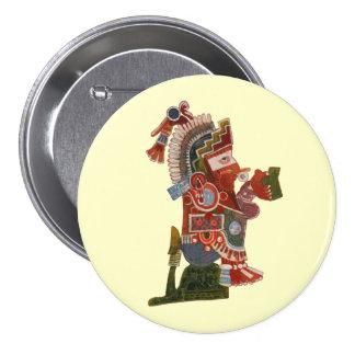 Indiano engraçado do Maya do botão com cerveja! Bóton Redondo 7.62cm