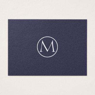 Índigo elegante cartão de visitas
