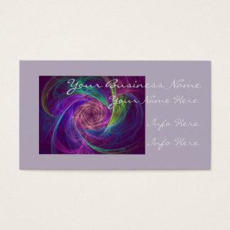 Infinidade colorida cartão de visita