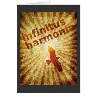 Infinitus Harmonia Cartão Comemorativo
